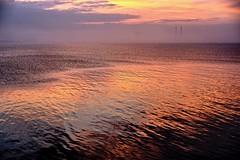 Dublin Bay (Mark Waldron) Tags: dublin ireland dunlaoghaire sunset sea water reflection poolbeg towers mist fog sony a7 helios442 soviet russian lens