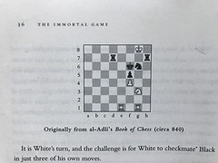 """A screenshot from """"The Immortal Game"""" by David Shenk (balusss) Tags: chess book puzzles theimmortalgame davidshenk islam aliyats aladli bookofchess"""