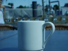 Fisherman's friend (BeMo52) Tags: coffee cup kaffee stilllive stillleben tasse ship schiff hafen habour