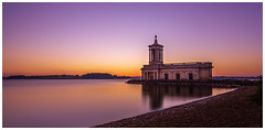 Normanton Church. (Ian Emerson (Thanks for all the comments and faves) Tags: church water reservoir naturereserve glow sunset canon 6d 24105 hoya ndx400 magenta orange still calm beauty rutland