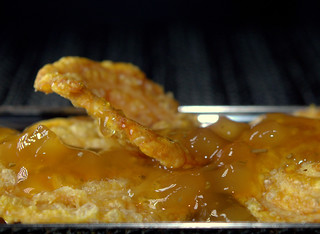 Pork Scratching with Apple Sauce