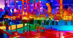 Out to lunch (abstractartangel77) Tags: restaurant brightonmarina malmaison bright colour interior painterly