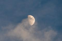 Moon (FButzi) Tags: moon half demi mezza luna clouds rock view