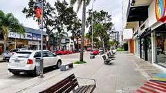 Calle 20 (Raúl Alejandro Rodríguez) Tags: calle street vereda sidewalk autos cars bancos benches comercios shops árboles trees palmeras palmtrees carteles letreros signs punta del este república oriental uruguay