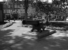 The Lone Cannon (Alex Luyckx) Tags: photostock photostock2018 petosky michigan unitedstatesofamerica usa downtown historicdowntown gaslightdistrict summer sun travel vacation roadtrip puremichigan mamiya mamiyam645 slr 120 mediumformat 6x45 645 mamiyasekorc45mm128n kodak kodakpanatomicx panatomicx asa32 fx kodakd76 d76 stock 10 bw blackwhite gossenlunasixf epsonv700 adobephotoshopcc film filmphotography believeinfilm filmisalive filmisnotdead