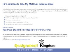 Take My Online MathLab Calculus Class For Me (assignmentkingdom) Tags: take my online mathlab calculus class for me