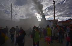 Early morning incense in front of Jokhang, Tibet 2018 (reurinkjan) Tags: tibetབོད བོད་ལྗོངས། 2017 ༢༠༡༧་ ©janreurink tibetanplateauབོད་མཐོ་སྒང་bötogang tibetautonomousregion tar ütsang lhasa jokhang lhadentsuglakhang jowokhang ཇོ་ཁང་ barkhorstreet tibetanབོད་པböpa sunriseཉི་ཤར།nyishar sunisrisingཉི་མ་འཆརnyimanchar tibetanpeopleབོད་མིbömi བོད་འབངསbömbang thewildfolksoftibetབོད་སྲིནbösin tibetanpeopleབོད་རིགསbörik incensesmokeofferingལྷ་བསང་lhabsang religiousceremonyofburningincensejuniperetcབསངས་གསོལbsangsgsolsangsöl cloudsofincensesmokeསྤོས་ཀྱི་དུད་སྤྲིནsposkyidudsprinpökyidütrin fragranttreegoodforincensenonpricklyhimalayanjuniperབདུག་སྤོས་ཤིང༌bdugsposshingdukpöshing