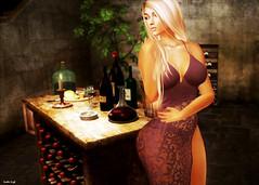 Wine Cellar (Scottie Leigh ~ Eviternity Photography ~) Tags: secondlife sl wine beauty woman blond cellar catwa maitreya truth blueberry bento