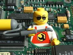 Inside Electronics - Macro Monday (captain_joe) Tags: insideelectronics macromondays toy spielzeug 365toyproject lego minifigure minifig platine circuit board
