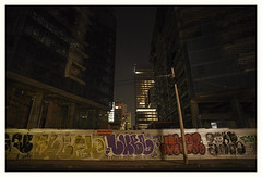 July 1st (oscarinn) Tags: mexico mexicocity night lights nocturne buildings graffitti dark melancholy bleak df july days