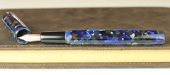 Black and Blue Custom Fountain Pen - Bock Rose Gold Nib (BenjaminCookDesigns) Tags: fountainpen custom bespoke engraved personalised classic vintage artdeco style gift birthday christmas fpgeeks fpn giftforhim giftforher füllfederhalter
