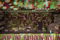Toms River, New Jersey (DDDavid Hazan) Tags: tomsriver nwjersey nj jerseyshore shore boardwalk amusementpark balloons color fairground anaglyph 3d 3danaglyph 3dstereophotography redcyan redcyan3d stereophotography stereo3d streetphotography