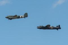 The Big Birds Of The BBMF (Matt photo3) Tags: bbmf avro dakota lancaster douglas dc3 c47 kwicherbichen pa474 za947 leader battle of britain memorial flight riat18