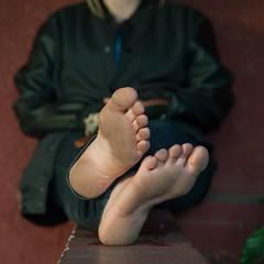 24074135612_3476526f0f_o (paulswentkowski1983) Tags: dirty feet soles female pitch black street filthy fithy