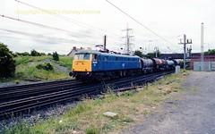 Mossend 85040 22jun89 c408 (Ernies Railway Archive) Tags: mossendyard cr lms scotrail