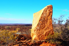 Eagle Rock, Sculpture Symposium, Broken Hill, New South Wales, Australia (Red Nomad OZ) Tags: brokenhill sculpturesymposium livingdesert newsouthwales nsw australia outback lookout desert road