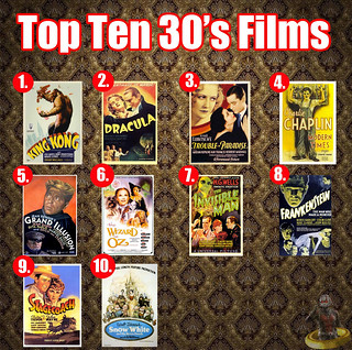 Top Ten 30s Films