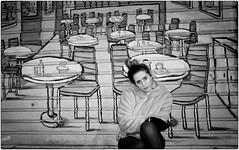 Dawn of the Belle Époque (Steve Lundqvist) Tags: girl ragazza model urban city portrait persone ritratto fashion moda mood attractive beauty street streetphotography sidewalk top face candid fujifilm x100 marciapiede fur woman posh milan milano italy italia people x100s edificio mural wall art red muro pittura