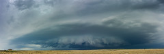 Incoming Storm - Pueblo Memorial Airport (Christopher J May) Tags: storm cell sky clouds thunderstorm supercell pueblo colorado co pueblomemorialairport landscape panorama stitched nikoncoolpixa