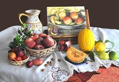 Omaggio a Giovanna Garzoni, incantevole pittrice del Seicento. (Melisenda2010) Tags: naturamorta stilllife giovannagarzoni estate frutta coth coth5