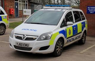 West Yorkshire Police Vauxhall Zafira Dog Section Car