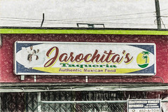 Jarochita's Taqueria (davidseibold) Tags: america drivebyphotography jarochitastaqueria jfflickr painting photosbydavid postedonflickr restaurant seattle sign unitedstates usa washington