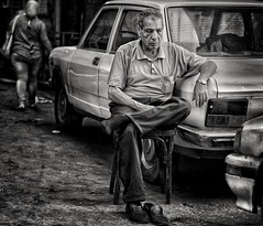 ... (Alfy's) Tags: streetphotographybw streetphotography streets streetpics bnw blackandwhite monochrome candid people faces cairo egypt sony a6000 sonya6000 50mm