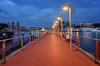 Sentosa Pier Blues (henriksundholm.com) Tags: city urban pier marina dusk sentosa harbourfront shadows landscape clouds sky reflections railing singapore hdr southeast asia