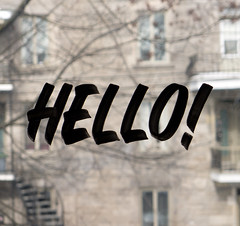 Hello! (Syntax One) Tags: calligraphy casual window