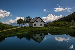 PARADISO (Lace1952) Tags: casa lago riflesso nubi cielo estate piante casalavera ossola domodossola vco piemonte italia nikond7100 tamron18200vr