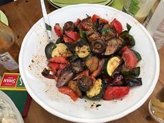 3326 Hot vegetable salad (Andy - Busy Bob) Tags: backgarden backyard barbq bbb bowl garden ggg hotvegetable photostream salad yard yyy