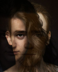 Self Portrait and Double Exposure (Scott David Jackson) Tags: me moi mademoiselle french frenchie beautiful beauty love lover lovers selfportrait self canon eos 7d 1ds 50mm 14 photographer portrait photoshop professional photography portraiture naturallight natural