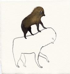 The Rider (benconservato) Tags: benconservato emmakidd painting art illustration primate portrait artbrut sketch paint
