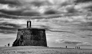 Castillo de Las Coloradas or Torre del Águila - B&W