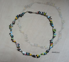 """STRAKATÉ MUŠLIČKY"" (Fimeli) Tags: polyclay polymerclay necklace beads handmade handwork"