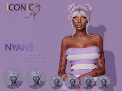 NYANE_BANNER (Neveah Niu /The ICONIC Owner) Tags: iconic iconichair neveahniu zbrush blender substance painter photoshop 3dmesh ethinicsl mainstore nyane secondlife meshhair concept art inspiration artist rigged mesh bento buns