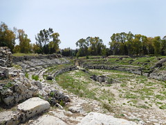 There where the Gladiators fought... (SixthIllusion) Tags: roman anphiteatre anfiteatro architecture archaeology histori ancient rome sicilia parco archeologico neapolis sicily siracusa italy travel travelling gladiator