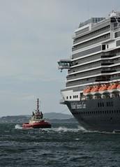 Tugboat towing MS Koningsdam (EvenHarbo) Tags: nikon nikond7100 norge norway ship sea boat stavanger rogaland cruiseship cruise tugboat hollandamericaline koningsdam mskoningsdam bryteren