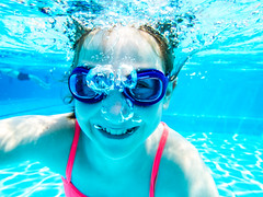 pooltime-7 (lermaniac) Tags: red pool swimingpool girl outdoors teen water countryclub underwater child blue dive