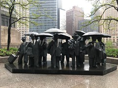 """Living World Series - Gentlemen"" by Ju Ming in Chicago, IL (Black Rock Photo) Tags: chicago illinois windycity sculpture art cityart publicart ming juming livingworldseries umbrellas"
