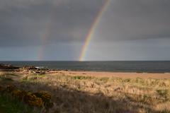 Double rainbow Dornoch beach (Innesboy) Tags: rainbow doublerainbow beach sea shore waves andrewinnes landscape seascape sandybeach coast coastline walk visitscotland coastal tourism scottishtourism nc500 highlands easterross morayfirth dornochfirth sutherland