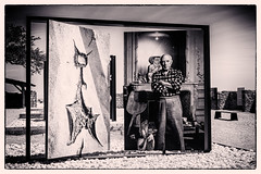 Everything you can imagine is real (Pablo Picasso) (Peter Jaspers) Tags: frompeterj© 2018 olympus zuiko omd em10 1240mm28 lesbauxdeprovence picasso pablopicasso lucienclergue exposition exhibtion chateaudesbauxdeprovence france french bw blackwhite bn filmnoir silverefexpro luberon paca provence monochrome