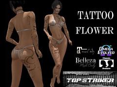 FLOWER TATTOO (Top Striker) Tags: roymildor topstriker flower tattoo sl secondlife applier