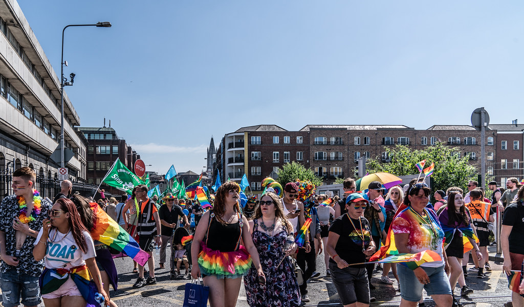 ABOUT SIXTY THOUSAND TOOK PART IN THE DUBLIN LGBTI+ PARADE TODAY[ SATURDAY 30 JUNE 2018] X-100078