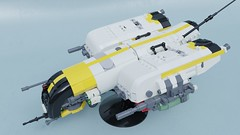 Gunship Sukhoi Aerospace Su-107M (Sunder_59) Tags: lego moc render mecabricks blender3d scifi vehicle military space spaceship starship spacecraft starfighter