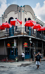 The Big Easy (Rabican7) Tags: neworleans louisiana nola streetphotography thebigeasy culture architecture street bar people colorful vibe sky building patio balcony urban frenchquarter easygoing