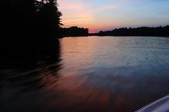 sunset from the boat (scienceduck) Tags: 2018 scienceduck june ontario canada muskoka muldrew lakemuldrew sunset boat