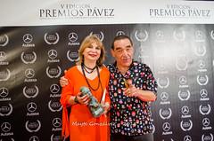 Bruto Pomeroy y Paloma Abad (Premios Pávez) Tags: festival premios pávez pavezones cine evento premiados cortos cortometrajes cortometrajistas artistas photocall categorías actrices actores teatropalenque talavera teatro palenque entregadores