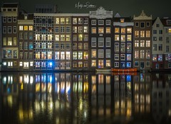 Amsterdam Nights (Martijn van Sabben) Tags: canal oldbuilding spiegel mirror water longexpossure nightphotography atnight evening europe holland awesome monumental reflectie reflection flickr nightshot night travel netherlands olympus coolshot cool nederland architecture ngc dutch amsterdam
