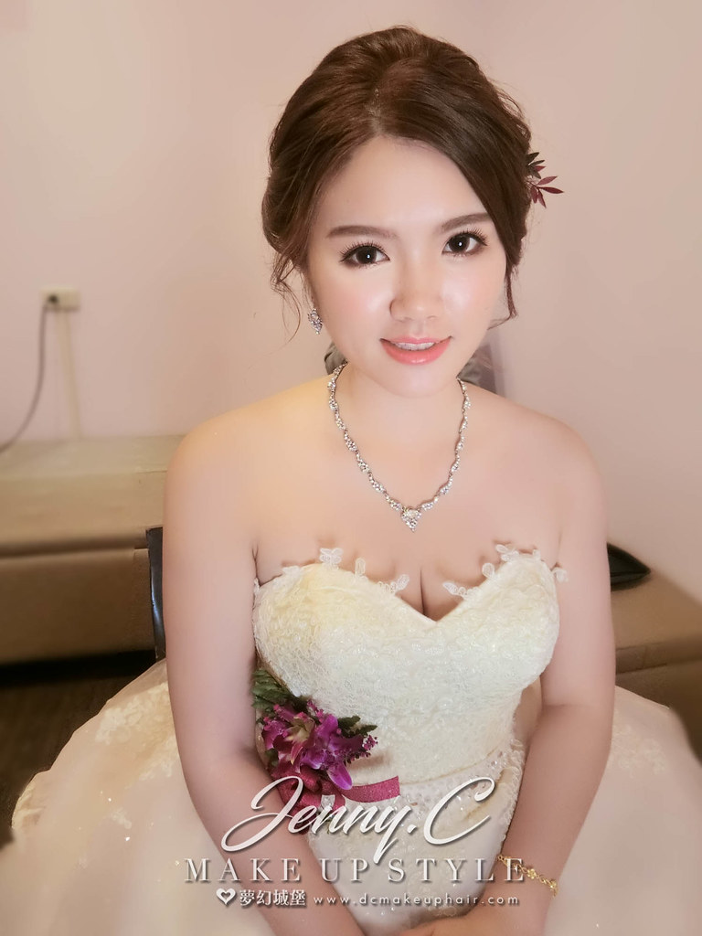 【新秘蓁妮】bride燕枝 訂婚造型 / 小牧口和漢日料